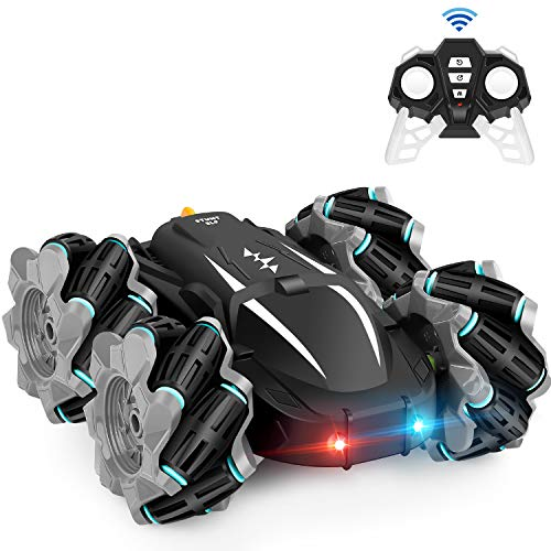 Remote Control Car, RC Cars Boys/Girls Kids Toys Christmas Birthday Gift for Age 6 7 8 9 10 11 12, High Speed Drift Vehicle, Double Sided 360° Rotating, 4WD, Rechargeable Batteries (Built-in)