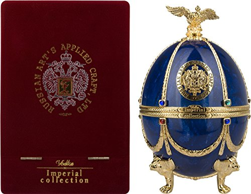 Imperial Collection Vodka Fabergé Ei Saphir mit Geschenkverpackung (1 x 0.7 l)