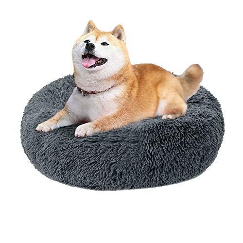 Artife Katzenbett Hundebett Katzenkorb zum Schlafen Plüsch Weich Runden Katze Kleine Hunde Kissen Sofa Haustierbett