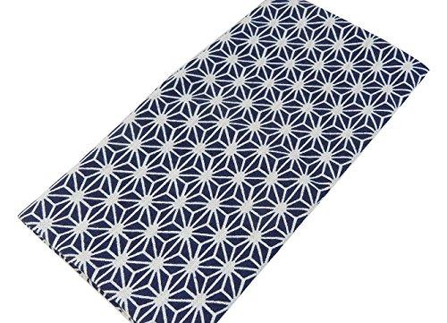 日本手ぬぐい 紺麻の葉柄 日本製
