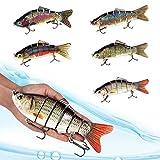 KEMEILIAN Dyyp0309 20cm 110g 6 Segments de pêche Leur de pêche 3D Yeux Nains de Nain Cranhankbait Isca Hokey Punishing Bait Wobblers Durable (Color : 4)
