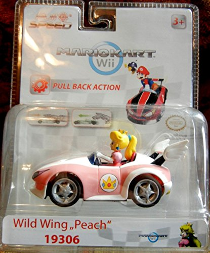Blister Coche Peach Pull Speed Wild Wing Wii Nintendo