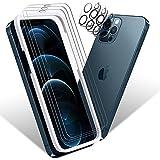 Sanyee 6 Stück Schutzfolie Kompatibel mit iPhone 12 Pro Panzerglas 6.1Zoll(3 Stück)+ Kamera...