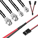 RC Car Led Light Headlight Taillight Kit with Y Cables for Hsp Tamiya 1/10 Scale Rc Car Tank Models