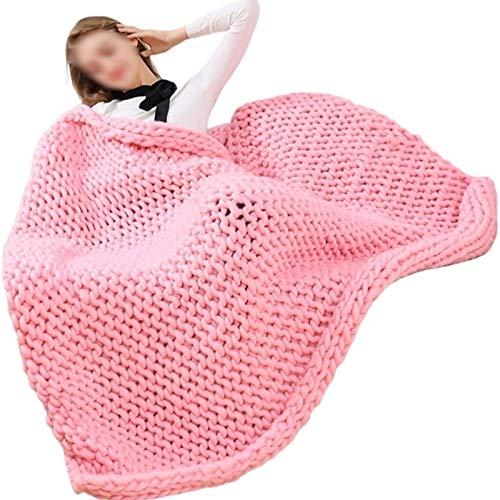 WWL Manta de punto gruesa gigante de acrílico de 6 cm, manta original hecha a mano, decoración de dormitorio, silla de cama, sofá, mascota, esterilla de yoga, manta de punto gruesa hecha a mano