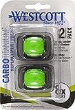 Westcott CarboTitanium Replacement Blades, 2 Pack...