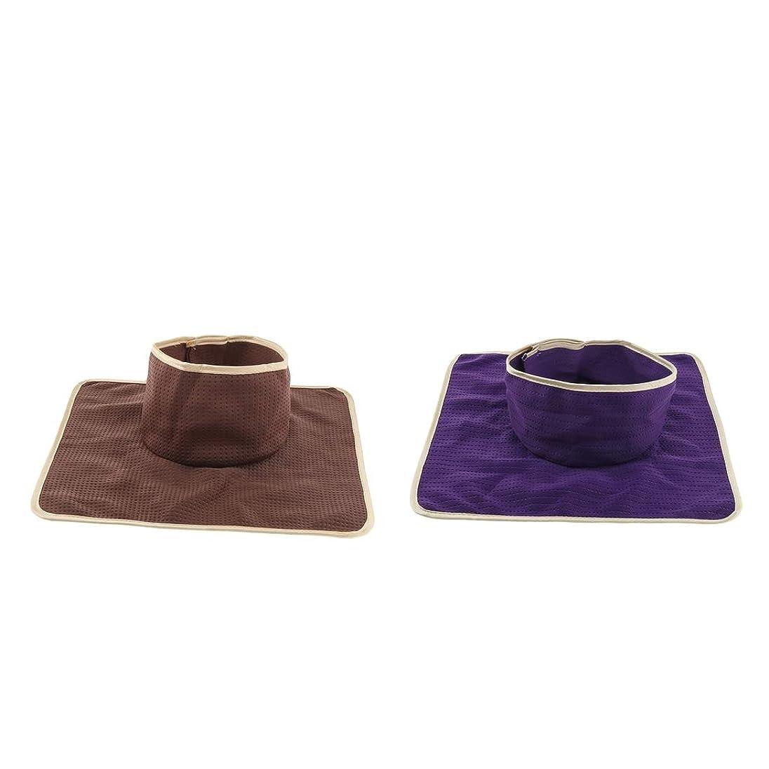 モート適切に付属品P Prettyia フェイスホール付き 2ピース 洗え 再利用可能な マッサージ ベッドタトゥーテーブルシートパッド