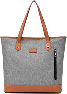 Trendy Lady Large-capacity Handbag Fashion Oxford Cloth Bag Casual Shoulder Bag Zgywmz (Color : Gray, Size : 36 * 14 * 35cm)