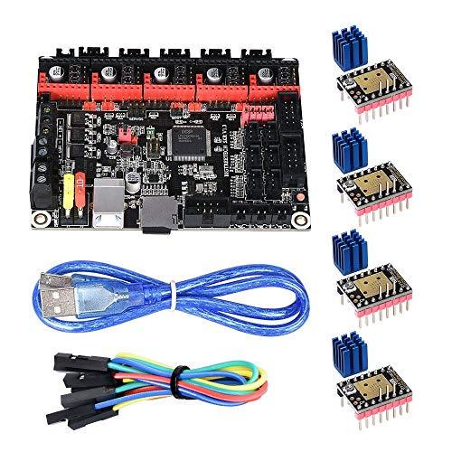 KINGPRINT 4 * TMC2208 V3.0-UART con SKR V1.3 Tarjeta controladora de 32 bits Smoothieware para impresoras 3D Compatible con 12864LCD / Soporte A4988 / 8825 / TMC2208 / TMC2100 Driver