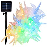 Hometown Evolution, Inc. Solar Powered Dragonfly String Lights - 30 LED Multi Colored, 8 Modes, Outdoor Waterproof for Gardens, Patios, Yards, Home, Parties and More