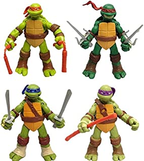4 Pcs/set 12cm Teenage Mutant Ninja Turtles Action Figure Anime Model