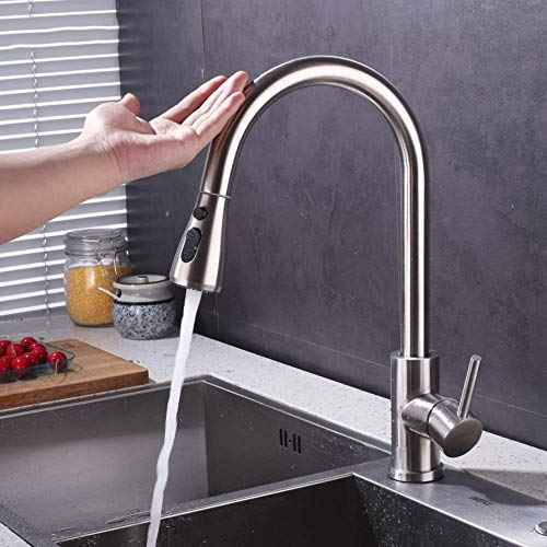 Review Gulakey Fashion Basin Faucet Bathroom Taps Smart Touch Sensor Kitchen Faucet Touch 304 Stainl...