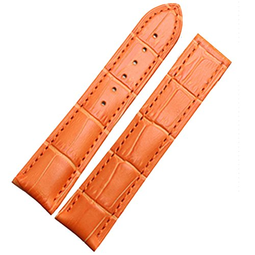 Nueva banda de 18 mm Correa de piel naranja esmaltes de hebilla de cierre de implementación Oro Rosa para