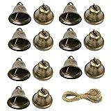 Aweisile 30 Stück Glocken Vintage kleine Glocke Vintage Klimpern Glocke Deko Rassel für Wind Glockenspiel Machen Handwerk Dekorationen Zubehör/Weihnachtsglocke/Festliche Dekoration