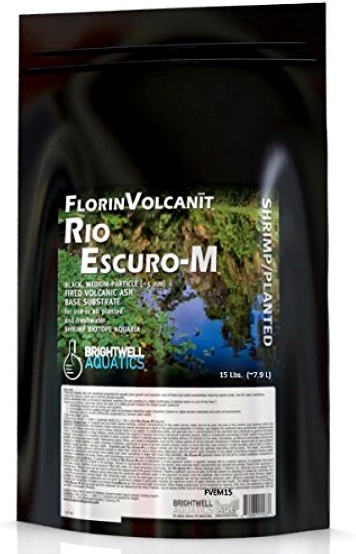 Brightwell Aquatics FlorinVolcanit Rio EscuroM Black 5mm FW Shrimp biotope Aquaria, 15 lb