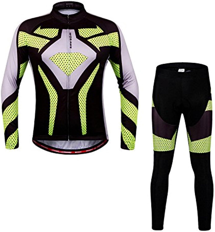 Bazaar WOSAWE Unisex Langarm-Anzug Jersey-Fahrrad-Shirts einen.Kreislauf.durchmachenClothing mit Silikon-Kissen