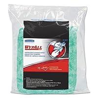 キンバリークラーク91367Wypall Waterless Cleaning Wipes Refillバッグ、101/ 2x 121/ 4、75/パック