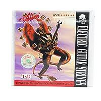 Alice E-1st超軽い張力、コーティング鋼製エレクトリックギター弦、ニッケルメッキボールエンド