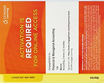 Printed Access Code CengageNOWv2, 2 terms Printed Access Card for Warren/Reeve/Duchac's Financial & Managerial Accounting, 14th Book