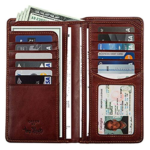 Our #7 Pick is the Tony Perotti Checkbook Wallet