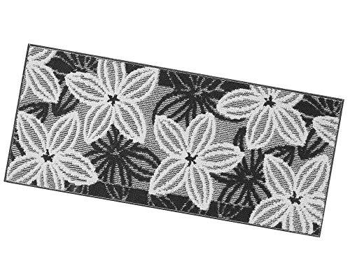ARREDIAMOINSIEME-nelweb Tappeto Cucina Floreale Tessitura 3D Retro Antiscivolo Moderno Multiuso Passatoia Corridoio Bagno Camera MOD.Enea 57x190 Grigio (G)
