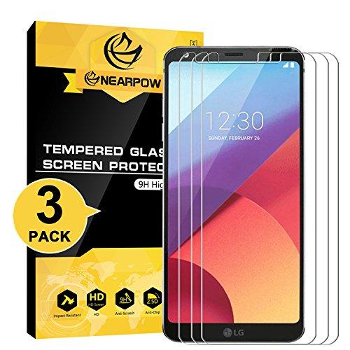 NEARPOW [3 Stück] LG G6 Panzerglas Displayschutzfolie, Kompatibel mit LG G6 Plus, Schutzfolie 9H Härte, Anti-Kratzen, Anti-Öl, Anti-Bläschen, Anti-Fingerabdruck