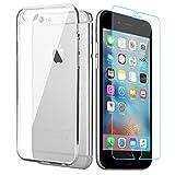iPhone 6s 6 Hülle + iPhone 6s 6 Panzerglas, APICI 1 x Transparent Ultra Slim TPU Hülle Schutzhülle & 1 x Gehärtetem Glas Schutzfolie für iPhone 6s 6