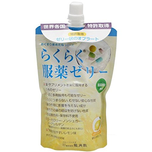 (まとめ)龍角散 服薬ゼリー らくらく服薬ゼリー (1)チアパック 1袋【×20セット】