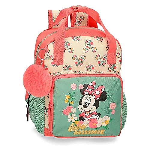 Disney Minnie Golden Days Mochila Preescolar Adaptable a Carro Multicolor 23x28x10 cms Poliéster 6,44L