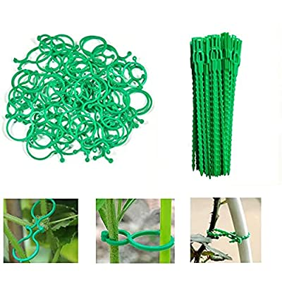 Amazon - 65% Off on 0 Pieces Adjustable Flexible Garden Plant Twist Ties in 6.7″, 50 PCS Plant Support Clips