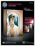 HP Premium Plus CR676A - Papel Fotográfico Brillante (20 Hojas, 13 x 18 cm), Blanco