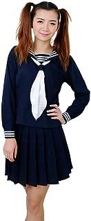 ROLECOS Womens Sailor School Uniform Dress Japanese Anime Lolita Sailor Suit