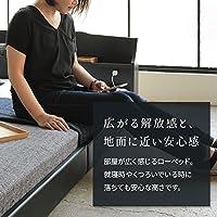 照明付き 宮付き 国産 ローベッド ダブル (フレームのみ) ブラウン 『RELICE』レリス 日本製ベッドフレーム ds-1912215