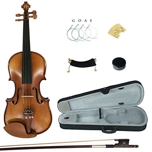 Kinglos YWA1005 4/4 Handgemacht Massivholz Schüler Akustische Violine Geige Ausrüstung in Voller Größe