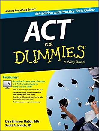 ACT For Dummies, with Online Practice Tests by Lisa Zimmer Hatch Scott A. Hatch(2015-05-04)