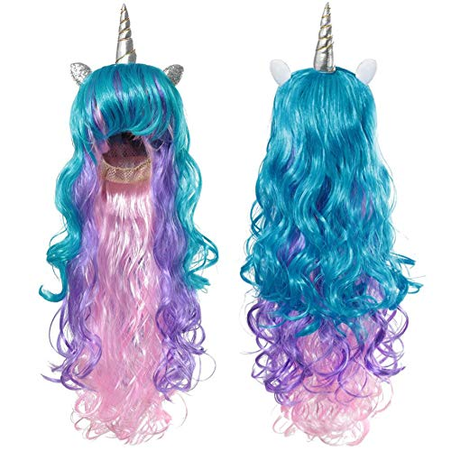 Unicorn Adult Rainbow Hair Wig