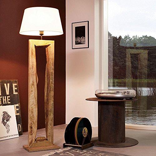 Licht-Trend Timber Stehleuchte mit Holzfuß h126 cm Braun Holz Stehlampe Holz-Stehleuchte Holz-Stehlampe Design-Holzleuchte Rustikal Altholz-Leuchte Altholz Stehlampe Standleuchte