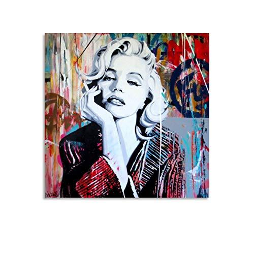 xiaoxian Marylin Monroe - Cuadro de retrato y lienzo para pared, diseño moderno y familiar, 50 x 50 cm