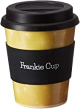 Frankie Cup Reusable, Eco-Friendly Bamboo Coffee to-Go Travel Cup with Lid 12 oz - Light Weight Dishwasher Safe - Stars Coffee Mug - Ideal for Women & Men