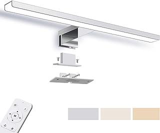 Lampe Miroir LED Dimmable, SOLMORE Applique Salle de Bain 40cm 1200LM 12W IP44, Couleur Réglable 3000K 4500K 6000K, Lampe ...