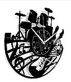 Instant Karma Clocks Horloge Murale en Vinyle LP 33 Tours idée Cadeau Vintage Faite Main Maison Guitare Musique Clavier Batterie Img 1 Zoom