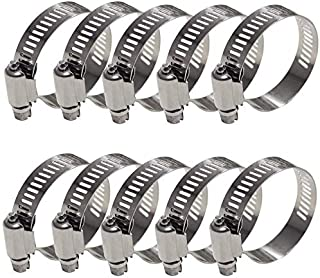 WYKA 30 Pack 46-70mm Range Worm Gear Hose Clamp,Adjustable 304 Stainless Steel Pipe Strap Clamps