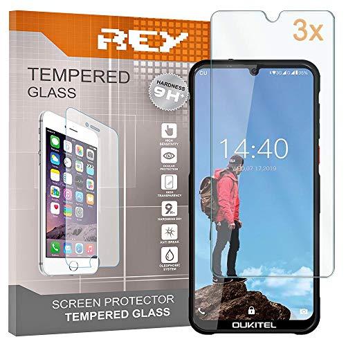 REY Pack 3X Panzerglas Schutzfolie für OUKITEL Y1000, Bildschirmschutzfolie 9H+ Festigkeit, Anti-Kratzen, Anti-Öl, Anti-Bläschen