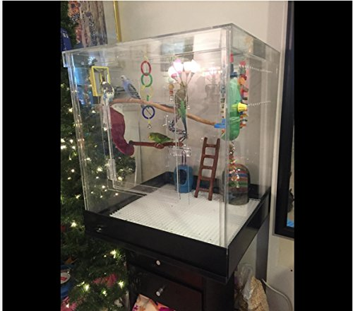 Pennzoni Display Parrot Cage Small Acrylic...