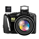Digital Camera 48 Mega Pixels Vlogging Camera Full HD 2.7K YouTube Camera with 4X Digital Zoom and 3.0 Inch Screen for Teenagers and Beginners Photography(with a 1500mAh Rechargeable Battery)