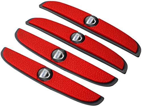 4 unids Caucho buma de parachoque Puerta Puerta Anti-colisión Emblema Pegatina para Dacia Duster Logan Dokker Lodgy Sandero Stepway Accesorios (Size : Red)