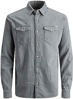 Jack & Jones Men's Jjesheridan Shirt L/S Long Sleeve Shirt