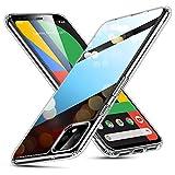 ESR Funda para Google Pixel 4 XL de Cristal Templado, Replica Tapa Trasera de Cristal, Resistente a arañazos, Borde Blando de Suave Silicona para Google Pixel 4 XL, Negro