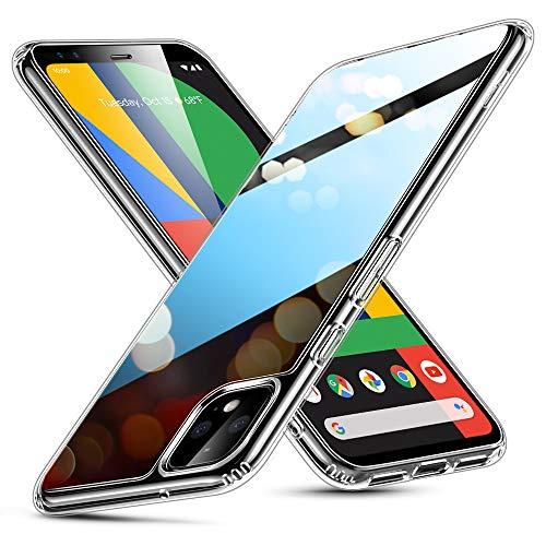 ESR Glashülle kompatibel mit Google Pixel 4 XL Hülle - 9H Panzerglas Rückseite mit TPU Rahmen - Kratzfeste Schutzhülle mit Weichem Silikon Bumper und Stoßabsorption für Pixel 4 XL - Schwarz