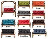 MH Gartenbankauflage Bankauflage Bankkissen Sitzkissen 100 x 60 x 50 cm Polsterauflage Sitzpolster (grau)